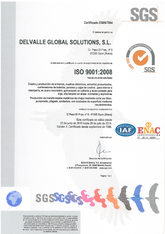 ISO 9001 Certificate · Delvalle Box