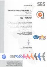 ISO 14001 Certificate · Delvalle Box