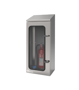Stainless Steel Fire Extinguisher Enclosure IP66 · Delvalle Box