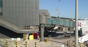 Boarding Bridges at Hamad International Airport · Delvalle Box