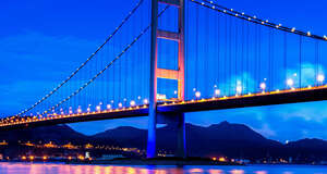 Tsing Ma Bridge in Hong Kong · Delvalle Box