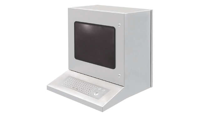 Workstation HMI´s Stainless Steel PC Compact Enclosure IP65 · Delvalle Box