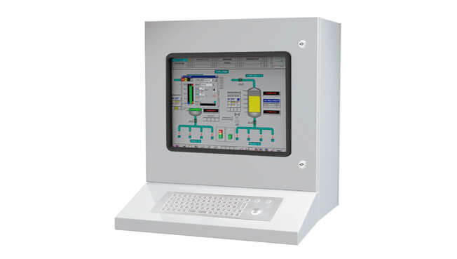 Armario PC Compacto Workstation HMI´s IP65 · Delvalle Box
