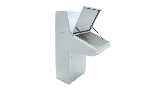 Pupitre Desmontable Acero Atrium IP66 · Delvalle Box