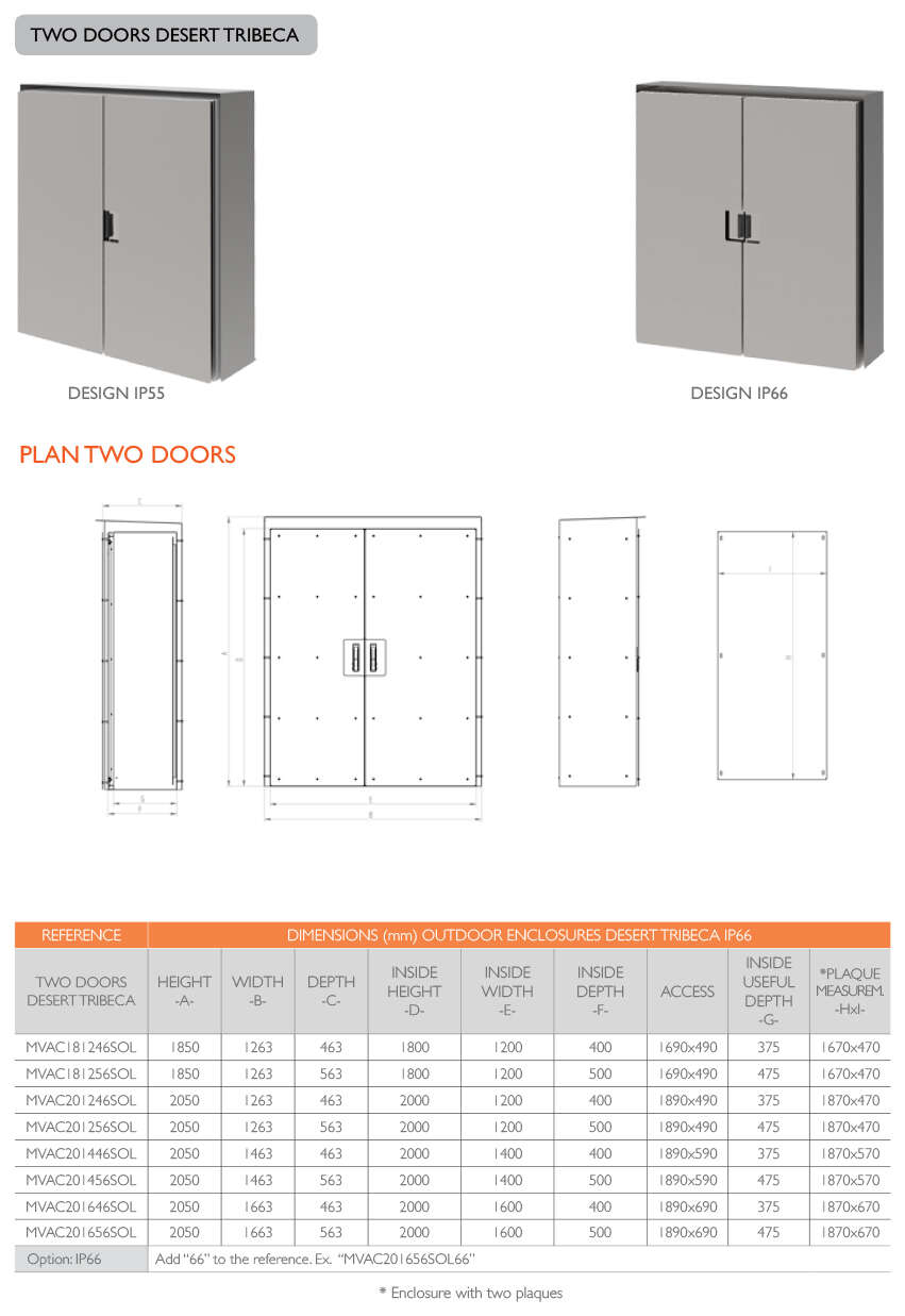 PLAN TWO DOORS DESERT TRIBECA · Delvalle Box
